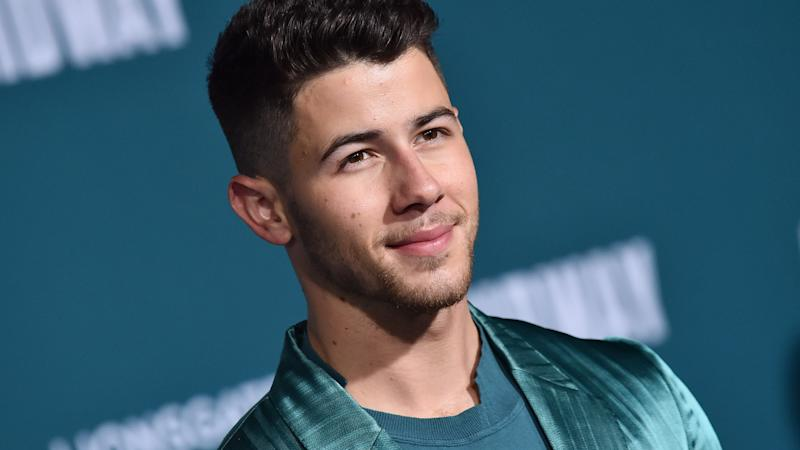 Nick Jonas Wearing a Metallic Teal Suit Just Cleared My Acne and Paid My Student Loans