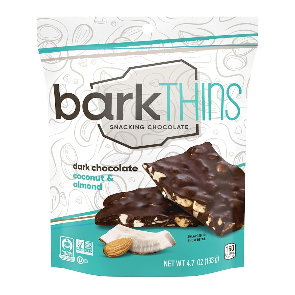 """<p><strong>barkTHINS</strong></p><p>walmart.com</p><p><strong>$17.58</strong></p><p><a href=""""https://go.redirectingat.com?id=74968X1596630&url=https%3A%2F%2Fwww.walmart.com%2Fip%2F130145812&sref=https%3A%2F%2Fwww.menshealth.com%2Fhealth%2Fg36606084%2Fhealthy-late-night-snacks%2F"""" rel=""""nofollow noopener"""" target=""""_blank"""" data-ylk=""""slk:Shop Now"""" class=""""link rapid-noclick-resp"""">Shop Now</a></p><p>Toasted coconut and almonds are bound up by dark chocolate for the ultimate treat you can look forward to all day long. As far as snacks go, you could do a lot worse than dark chocolate—it contains high levels of heart-friendly antioxidants. Plus, you'll get some healthy fats from the <a href=""""https://www.runnersworld.com/news/a32781636/almonds-could-improve-heart-health-study/"""" rel=""""nofollow noopener"""" target=""""_blank"""" data-ylk=""""slk:almonds"""" class=""""link rapid-noclick-resp"""">almonds</a>.</p>"""