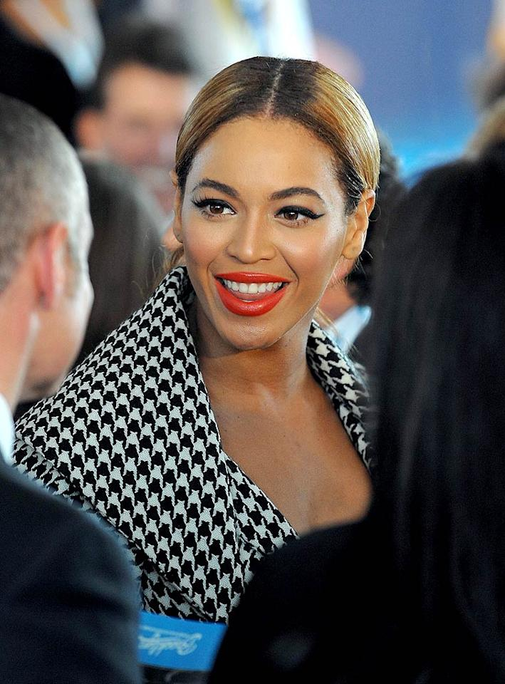 "Accompanying her hubby to the Nets event was a supportive Beyonce Knowles. The diva had her own launch this week -- a controversial 10 min <a href=""http://new.music.yahoo.com/videos/Lady+GaGa/Telephone+f%2F+Beyonce--218656764"" target=""new"">music video</a> for ""Telephone,"" her new collaboration with Lady Gaga. Jamie McCarthy/<a href=""http://www.wireimage.com"" target=""new"">WireImage.com</a> - March 11, 2010"