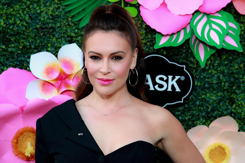 Alyssa Milano attends Lifetime's Summer Luau at W Los Angeles on May 20, 2019, in Los Angeles. (Photo: Rich Fury/Getty Images)