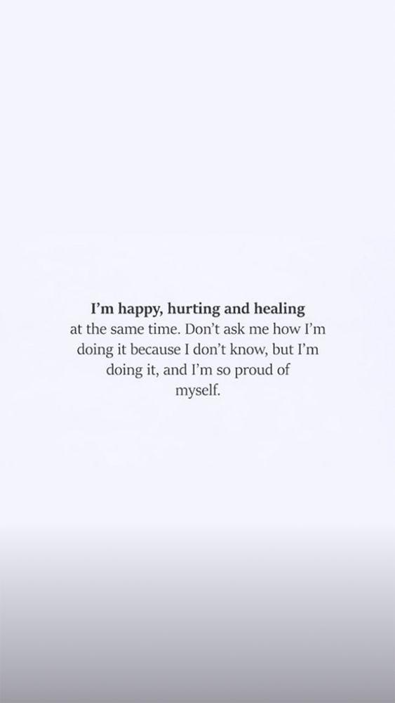 khloe kardashian posts quote about being happy healing from