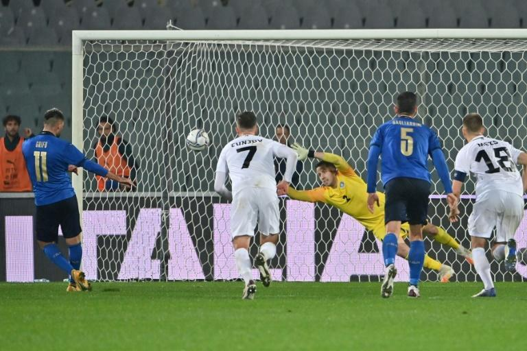 Vincenzo Grifo scored his first Italy goals in a 4-0 thumping of Estonia