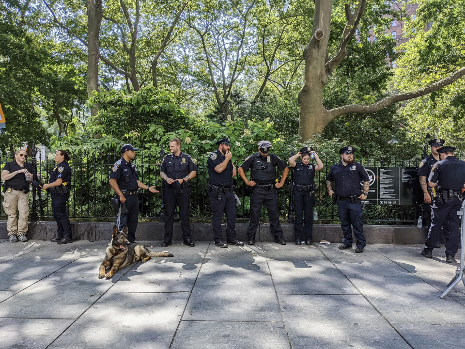 The number of officers in the New York Police Department fell substantially in 2020. (Karsten Moran/The New York Times)