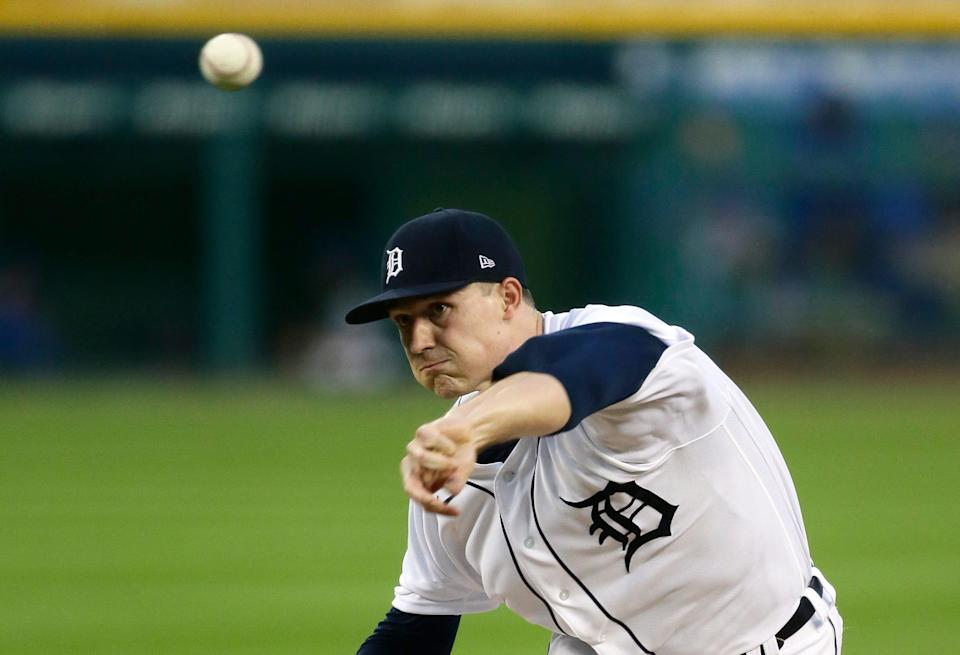 Detroit Tigers' Tarik Skubal pitches against the Kansas City Royals during the second inning at Comerica Park on Sept. 16, 2020.