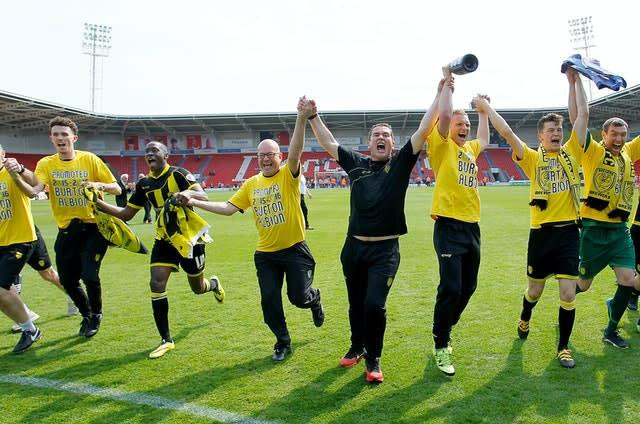 Nigel Clough led Burton into the Championship (Richard Sellers/PA)
