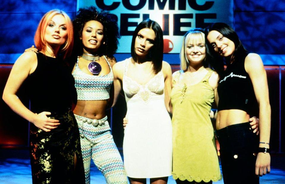 <p><strong>When? </strong>March, 1997</p><p><strong>Where? </strong>London</p><p><strong>What? </strong>On stage at Comic Relief</p>