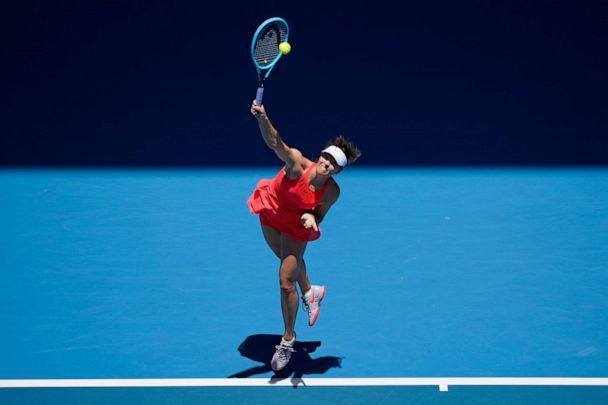 PHOTO: Maria Sharapova of Russia in action during her Women's Singles first round match at the 2020 Australian Open, Jan. 21, 2020, in Melbourne, Australia. (Fred Lee/Getty Images)