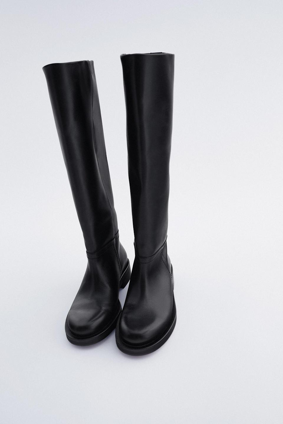 <p><span>Zara Tall Leather Boots</span> ($229) </p>