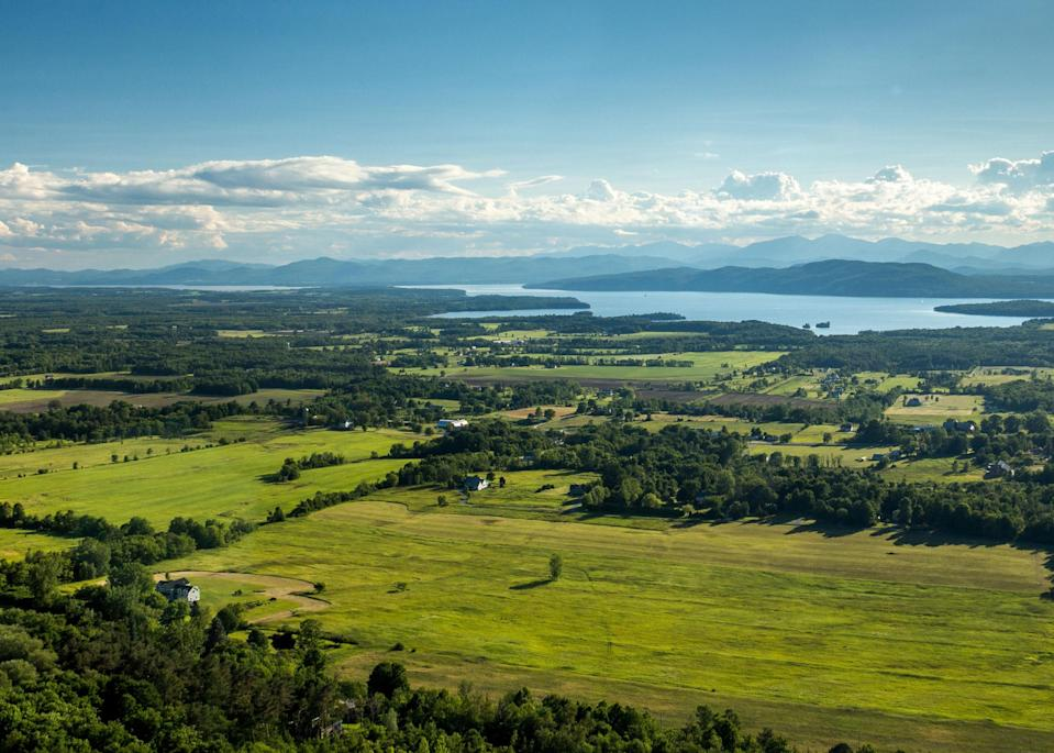 """<p><strong>Best camping in Vermont:</strong> Mount Philo State Park</p> <p>Just minutes south of Burlington sits Vermont's first state park, Mount Philo. This unpretentious woodland setting is a summertime favorite for <a href=""""https://www.cntraveler.com/story/how-i-accidentally-became-a-birder?mbid=synd_yahoo_rss"""" rel=""""nofollow noopener"""" target=""""_blank"""" data-ylk=""""slk:birders"""" class=""""link rapid-noclick-resp"""">birders</a>, picnickers, and hikers looking to summit its namesake 968-foot peak. Gaze out at impeccable views of the Lake Champlain Valley and Adirondack Mountains from the top.</p>"""