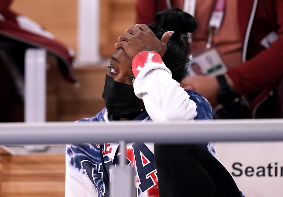 USA's Simone Biles is due to return to action in Tuesday's beam final (Mike Egerton/PA) (PA Wire)