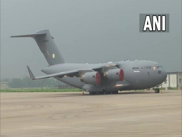 The flight landed on the Hindon IAF base in Ghaziabad.