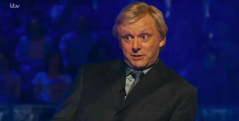 Sheen as Chris Tarrant in Quiz (Credit: ITV)