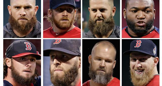 World Series Cardinals Red Sox Baseball (In this combo of photos, Boston Red Sox players, top row from left, Jonny Gomes, Ryan D