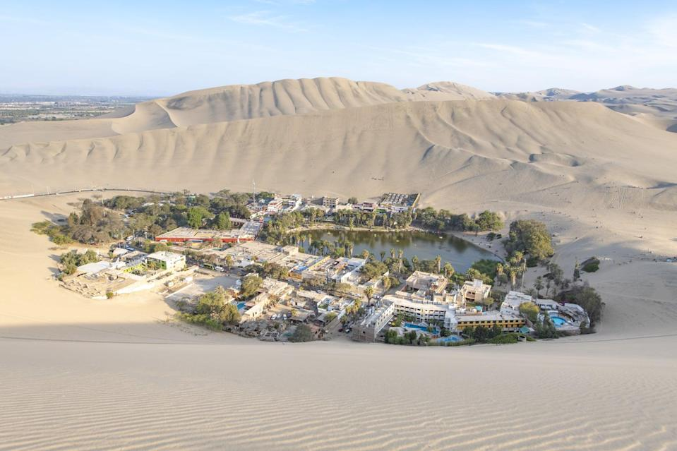 <p>The Huacachina Oasis is an actual oasis and not a figment of your imagination. </p>