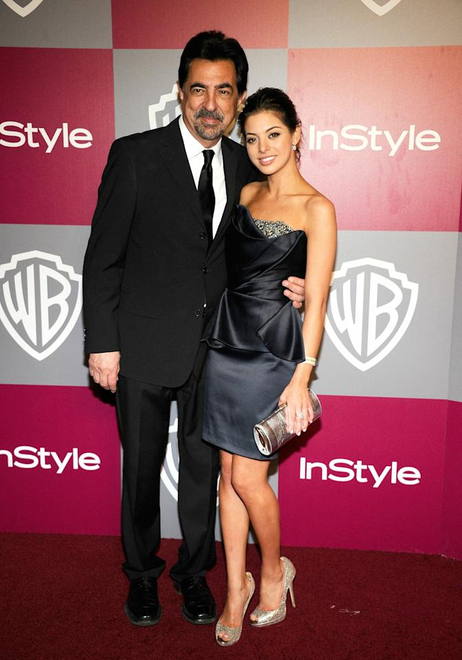 BEVERLY HILLS, CA - JANUARY 16:  Actor Joe Mantegna and Miss Golden Globe 2011 Gia Mantegna arrive at the 2011 InStyle And Warner Bros. 68th Annual Golden Globe Awards post-party held at The Beverly Hilton hotel on January 16, 2011 in Beverly Hills, California.  (Photo by Kevork Djansezian/Getty Images)