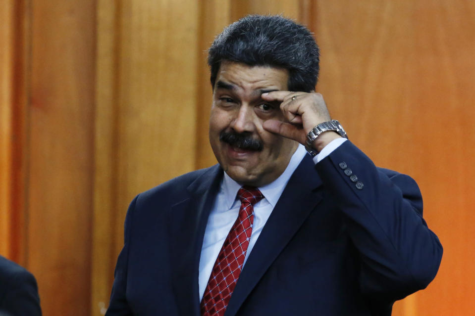 """Venezuela President Nicolás Maduro says it's not a country of """"beggars"""". Source: AP"""