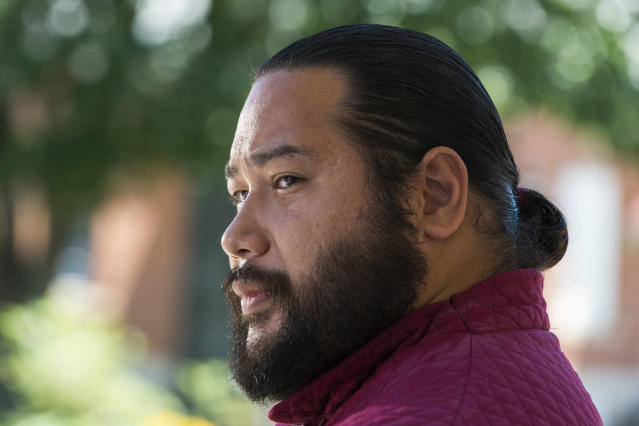 <p>Cooper Andrews as Jerry in AMC's <i>The Walking Dead.<br> (Photo: Gene Page/AMC)</i> </p>