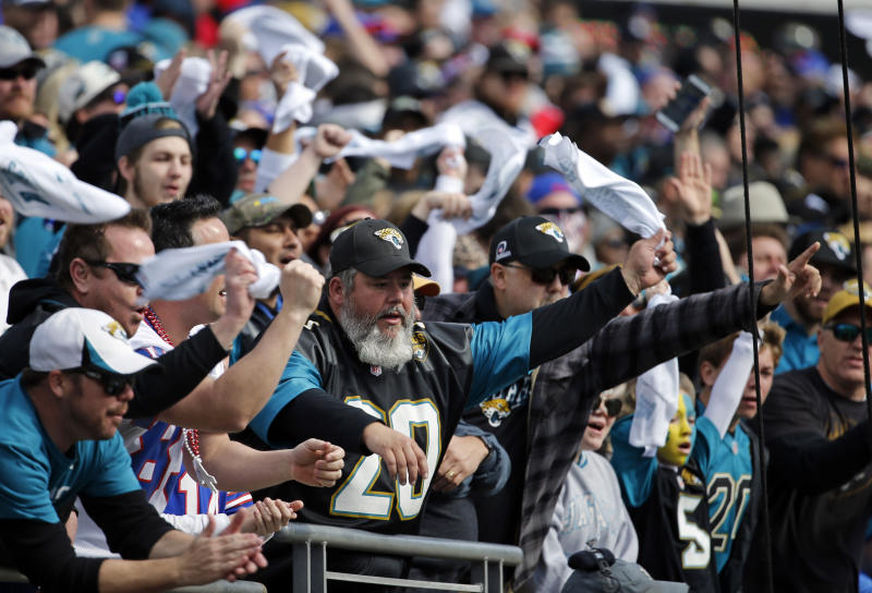 The Jacksonville Jaguars are expanding their capacity in 2018 by removing tarps from the upper deck. (AP)