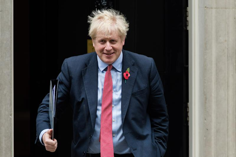 LONDON, UNITED KINGDOM - OCTOBER 29, 2019 - British Prime Minister Boris Johnson leaves 10 Downing Street - PHOTOGRAPH BY Wiktor Szymanowicz / Barcroft Media (Photo credit should read Wiktor Szymanowicz / Barcroft Media via Getty Images)