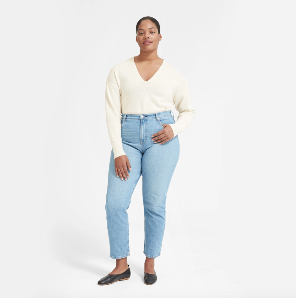 "$130, Everlane. <a href=""https://www.everlane.com/products/womens-cashmere-ovrszd-rnd-v-ivory?collection=womens-sale"">Get it now!</a>"