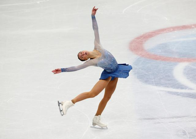 Figure Skating - World Figure Skating Championships - The Mediolanum Forum, Milan, Italy - March 21, 2018 Germany's Nicole Schott during the Ladies Short Programme REUTERS/Alessandro Bianchi