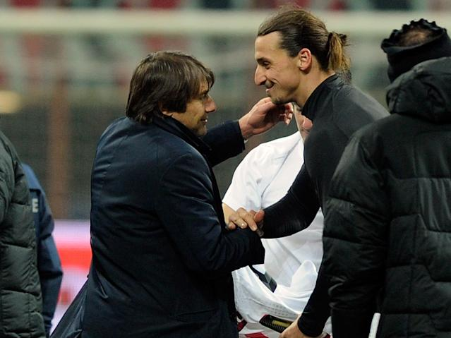 Conte said it was 'a pity' he didn't play with Ibrahimovic: Getty