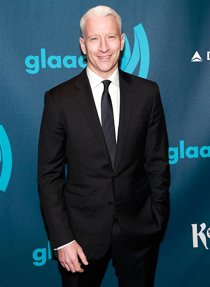 NEW YORK, NY - MARCH 16:  Honoree Anderson Cooper attends the 24th annual GLAAD Media awards at The New York Marriott Marquis on March 16, 2013 in New York City.  (Photo by Charles Eshelman/FilmMagic)