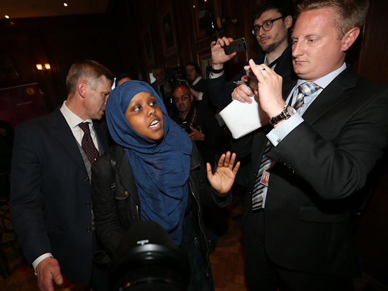 Anti-racism protesters disrupted the start of the Ukip manifesto launch: PA