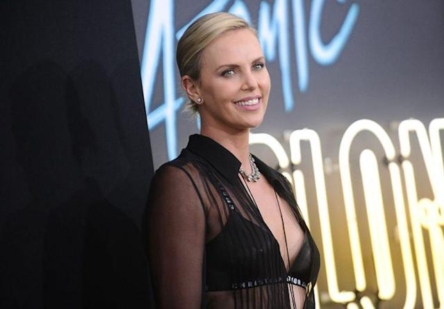 Charlize Theron at the Los Angeles premiere of  <em>Atomic Blonde</em>. (Photo: Getty Images)