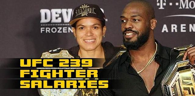 Amanda Nunes and Jon Jones UFC 239 salaries