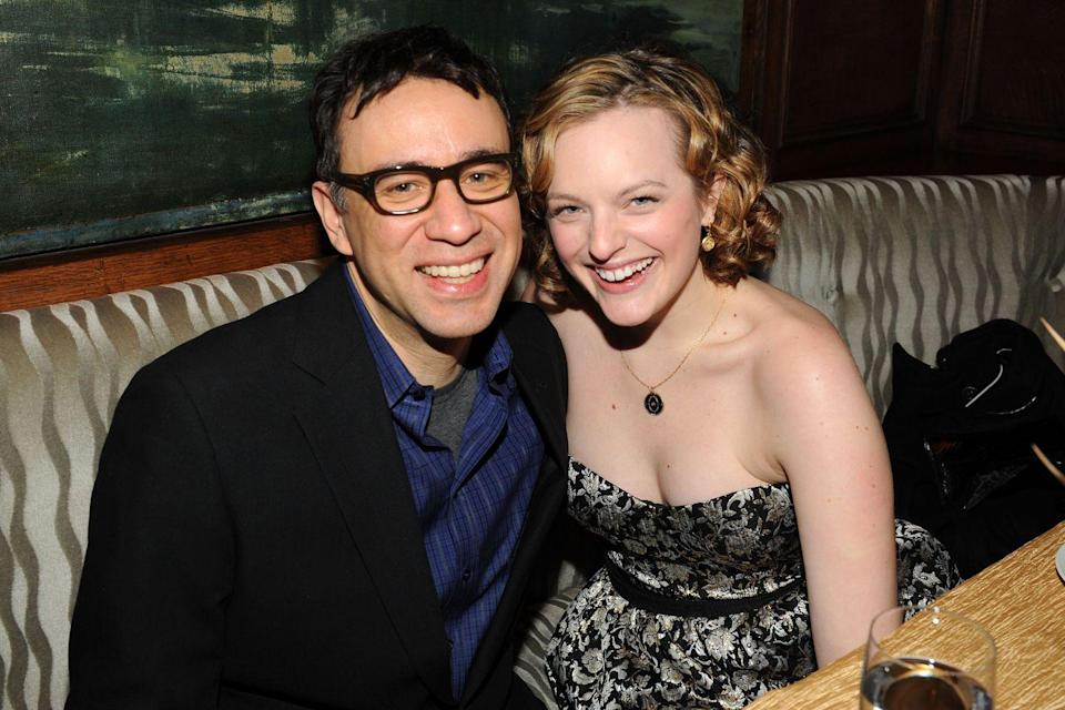 """<p>Elisabeth met the<em> SNL</em> alum, who is 16 years her senior, in October 2008 when her <em>Mad Men</em> costar Jon Hamm hosted the sketch show. They married a year later but separated after just eight months. Fred <a href=""""https://www.usmagazine.com/celebrity-news/news/fred-armisen-on-failed-marriage-to-elisabeth-moss-i-was-a-terrible-husband-201381/"""" rel=""""nofollow noopener"""" target=""""_blank"""" data-ylk=""""slk:later admitted"""" class=""""link rapid-noclick-resp"""">later admitted</a> to Howard Stern that he was """"a terrible husband,"""" and Elisabeth cosigned that while talking to <a href=""""http://www.vulture.com/2014/03/elisabeth-moss-on-mad-mens-final-season.html"""" rel=""""nofollow noopener"""" target=""""_blank"""" data-ylk=""""slk:New York magazine"""" class=""""link rapid-noclick-resp""""><em>New York </em>magazine</a> in 2014. """"Looking back, I feel like I was really young, and at the time, I didn't think I was that young,"""" she said. """"It was extremely traumatic and awful and horrible.""""</p>"""