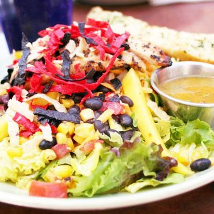 "<div class=""caption-credit""> Photo by: Thinkstock</div><div class=""caption-title"">Southwest ""Fiesta"" Salad</div><b>Where You'll Find it:</b> Applebee's, Au Bon Pain, Chili's <br> <br> <p>   <b>Why it's Worse:</b> Typically, this type of <a rel=""nofollow"" href=""http://www.shape.com/healthy-eating/diet-tips/12-salads-worse-big-mac?page=3#"">salad</a> (which also may go by Santa Fe style or just ""Fiesta"") is essentially a deconstructed taco or burrito: loaded with cheese, rice, and <a rel=""nofollow"" href=""http://www.shape.com/healthy-eating/diet-tips/12-salads-worse-big-mac?page=3#"">tortillas strips</a> , not to mention add-ons like guac and sour cream, it can run anywhere from 800 to 1200 calories, 14g saturated fat, and more than 1400mg sodium. </p>"