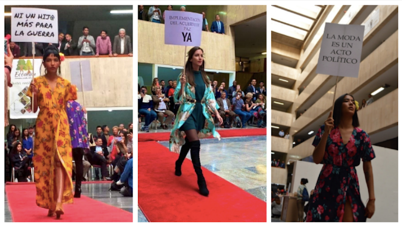In Colombia, ex-guerrilla fighters walk the runway for peace