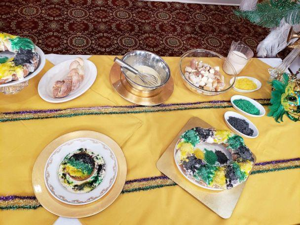 PHOTO: Ingredients for King cake and bread pudding for a traditional Mardi Gras dessert. (ABC News)