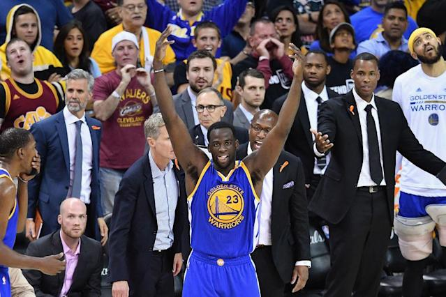 Draymond Green embraces his role as the villain as Cavs fans boo him in Game 4. (Getty Images)