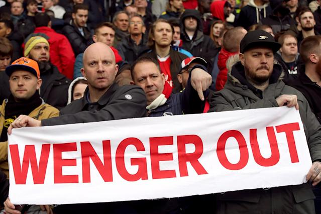 <p>Arsene Wenger protesters made themselves known at the Hawthorns </p>
