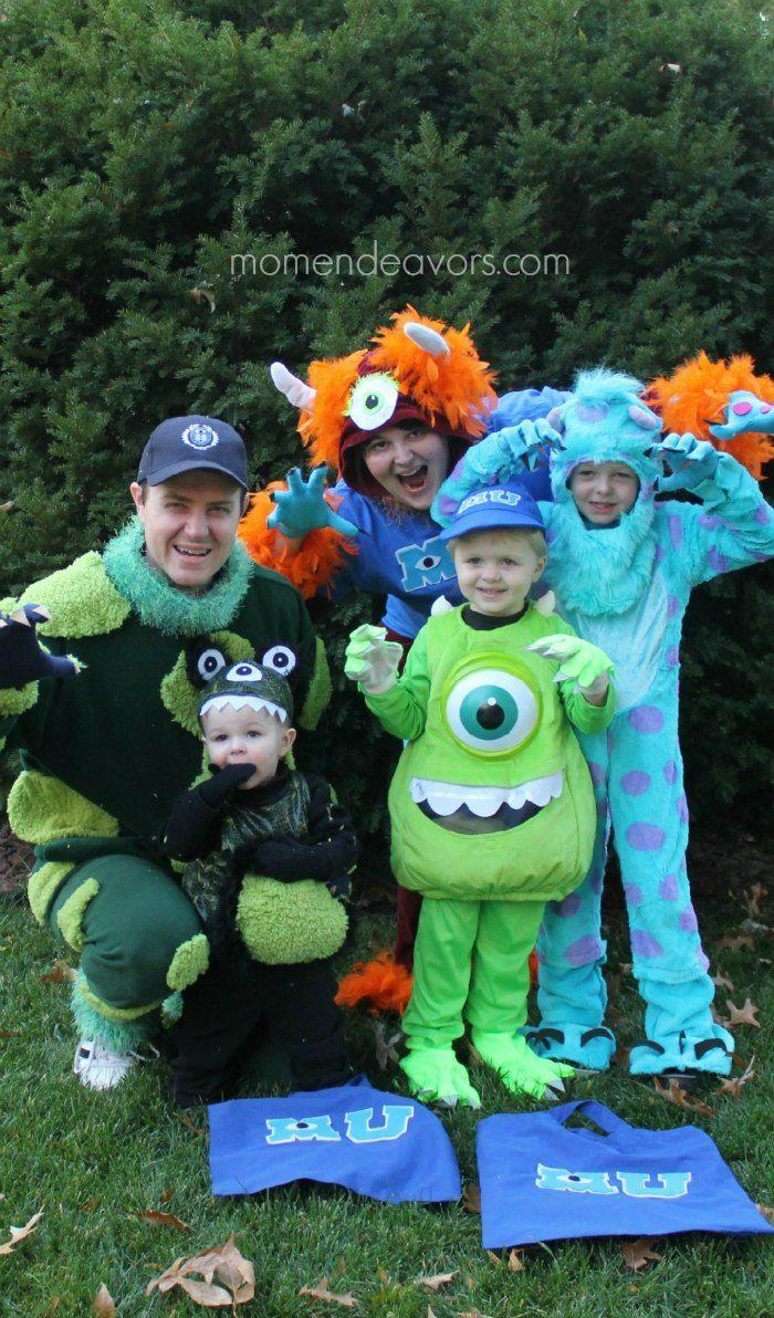 """<p>Monsters of all ages can be involved in this adorable idea. The handmade trick-or-treat bags complete the costume.</p><p><strong>Get the tutorial at <a href=""""https://www.momendeavors.com/diy-monsters-university-family-costumes/"""" rel=""""nofollow noopener"""" target=""""_blank"""" data-ylk=""""slk:Mom Endeavors"""" class=""""link rapid-noclick-resp"""">Mom Endeavors</a>.</strong> </p>"""