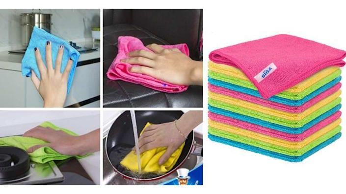 Microfiber cloths are a cleaning MUST.