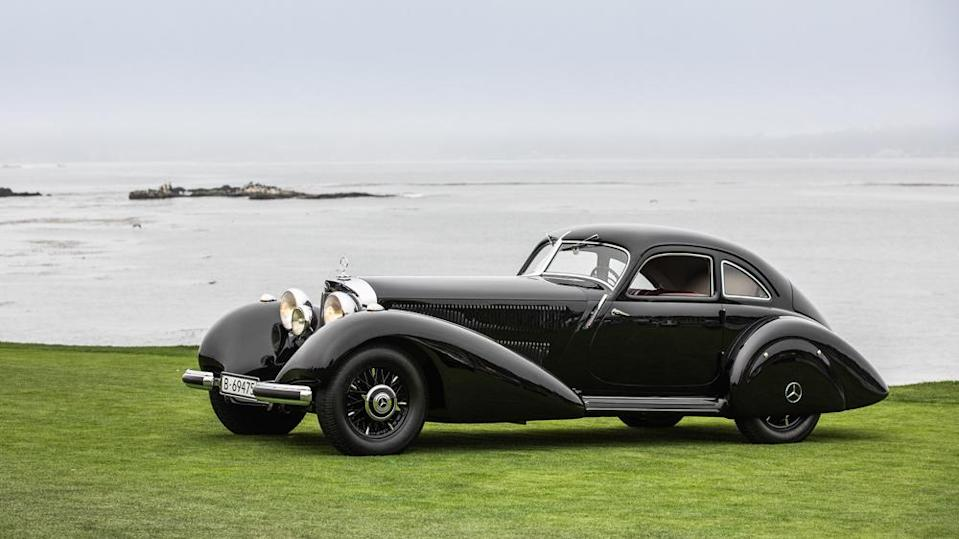 The 1938 Mercedes-Benz 540K Autobahn Kurier was named Best of Show at the 2021 Pebble Beach Concours d'Elegance. - Credit: Photo by Tom O'Neal, courtesy of Rolex.