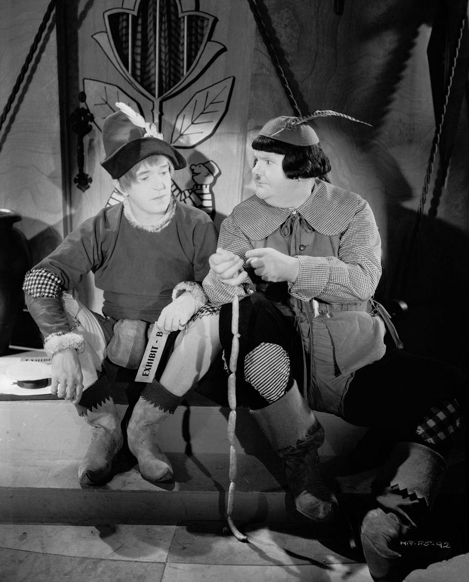 "<p>In many parts of the country, it's a tradition to watch this on Thanksgiving, so it's not only one of the <em>best</em> Christmas movies, it's one of the <em>first</em> Christmas movies of the season. Comedy duo Laurel and Hardy are a riot as bumbling toymaker apprentices.</p><p><a class=""link rapid-noclick-resp"" href=""https://www.amazon.com/Babes-Toyland-Stan-Laurel/dp/B077S6VGKF?tag=syn-yahoo-20&ascsubtag=%5Bartid%7C10055.g.23303771%5Bsrc%7Cyahoo-us"" rel=""nofollow noopener"" target=""_blank"" data-ylk=""slk:AMAZON"">AMAZON</a> <a class=""link rapid-noclick-resp"" href=""https://go.redirectingat.com?id=74968X1596630&url=https%3A%2F%2Fitunes.apple.com%2Fus%2Fmovie%2Fmarch-of-the-wooden-soldiers-babes-in-toyland%2Fid733853431&sref=https%3A%2F%2Fwww.goodhousekeeping.com%2Fholidays%2Fchristmas-ideas%2Fg23303771%2Fchristmas-movies-for-kids%2F"" rel=""nofollow noopener"" target=""_blank"" data-ylk=""slk:ITUNES"">ITUNES</a></p>"