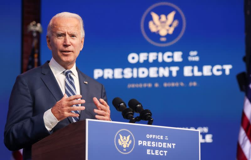 China says it extends congratulations to Biden