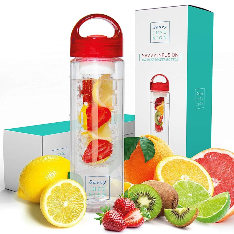 <p>Get this <span>Savvy Infusion Water Bottle</span> ($13, originally $29) for the person who hates drinking water plain.</p>