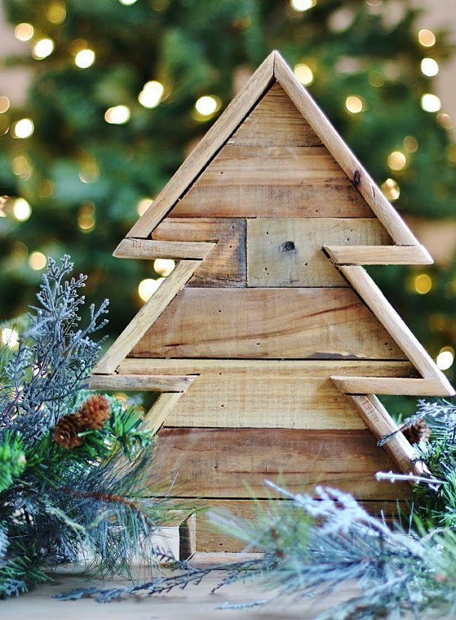 """<p>Sometimes bigger isn't better. This adorbs tree is only 16"""" tall and 12"""" wide, but it makes a big statement thanks in part to that smart-looking framing. </p><p><strong>Get the tutorial at <a href=""""https://thistlewoodfarms.com/pallet-wood-christmas-tree/"""" rel=""""nofollow noopener"""" target=""""_blank"""" data-ylk=""""slk:Thistlewood Farms"""" class=""""link rapid-noclick-resp"""">Thistlewood Farms</a>.</strong></p><p><a class=""""link rapid-noclick-resp"""" href=""""https://www.amazon.com/Single-Piece-Baltic-Birch-Plywood/dp/B01LZLCXBK/ref=sr_1_15?tag=syn-yahoo-20&ascsubtag=%5Bartid%7C10050.g.23322271%5Bsrc%7Cyahoo-us"""" rel=""""nofollow noopener"""" target=""""_blank"""" data-ylk=""""slk:SHOP PLYWOOD"""">SHOP PLYWOOD</a></p>"""