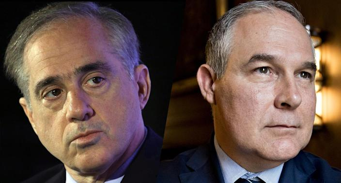 Veterans Affairs Secretary David Shulkin and Environmental Protection Agency Administrator Scott Pruitt (Photos: Alex Wong/Getty Images; Andrew Harrer/Bloomberg via Getty Images)