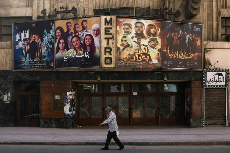 Cairo's historic Metro cinema theatre shown in May, on the first day of Eid al-Fitr, the Muslim holiday at the end the holy fasting month of Ramadan
