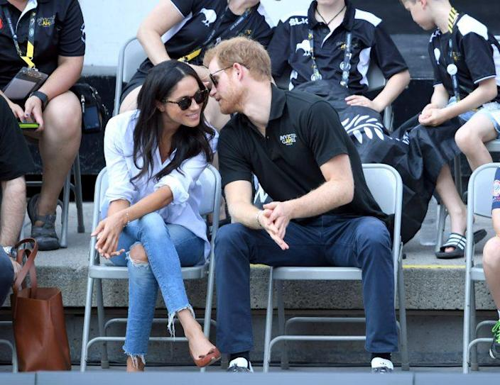 Prince Harry, Meghan Markle make first official public