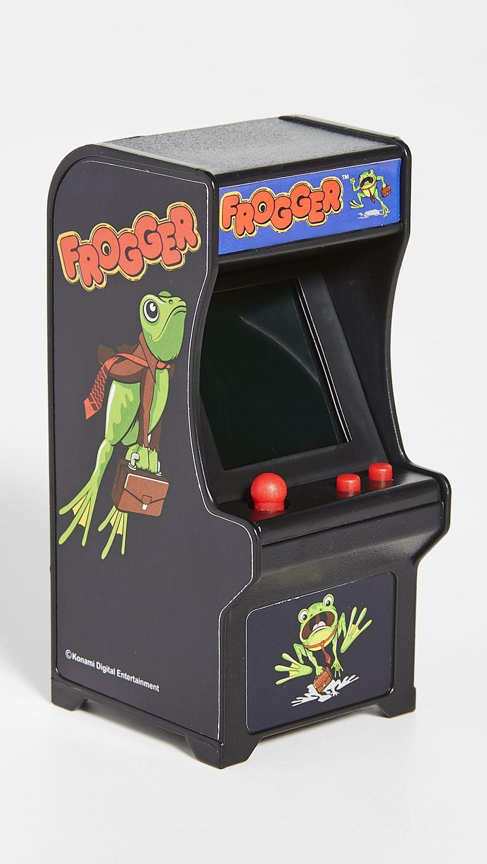 <p>This <span>East Dane Gifts Frogger Retro Arcade Game</span> ($22) is always a funny choice.</p>