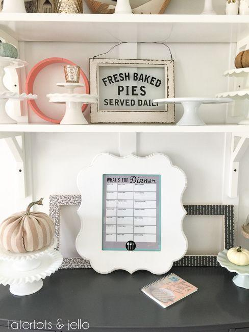"""<p>If deciding what's for dinner every night has become a daily battle, then this printable menu planner, which you can then stick in a frame and write on with dry erase markers, will help solve dinner woes. </p><p><strong><em><a href=""""https://tatertotsandjello.com/weekly-menu-planner-back-to-school-free-printable/"""" rel=""""nofollow noopener"""" target=""""_blank"""" data-ylk=""""slk:Get the tutorial at Tatertots & Jello"""" class=""""link rapid-noclick-resp"""">Get the tutorial at Tatertots & Jello</a>. </em></strong></p><p><a class=""""link rapid-noclick-resp"""" href=""""https://www.amazon.com/Icona-Bay-Picture-Exclusives-Collection/dp/B07DJ6CXK7?tag=syn-yahoo-20&ascsubtag=%5Bartid%7C10070.g.37133630%5Bsrc%7Cyahoo-us"""" rel=""""nofollow noopener"""" target=""""_blank"""" data-ylk=""""slk:SHOP FRAME"""">SHOP FRAME</a></p>"""
