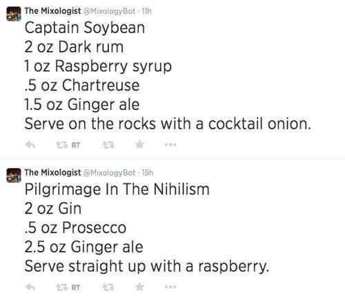 Tweets from The Mixologist