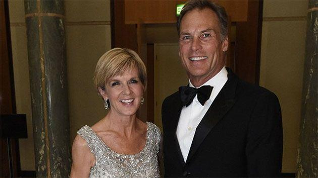 Julie Bishop and her partner David Panton took a private jet from Perth to Canberra. Photo: 7 News